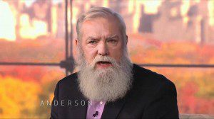 Screen cap of MIchael Pearl on the Anderson Cooper talk show