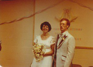 Polly and Bruce Gerencser's wedding in 1978. Image from The Life and Times of Bruce Gerencser