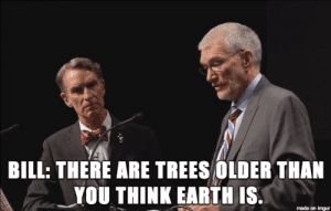 Screencap of Ken Ham and Bill Nye debate from Tumblr