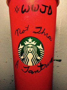 Doodling on my Starbucks Red cup