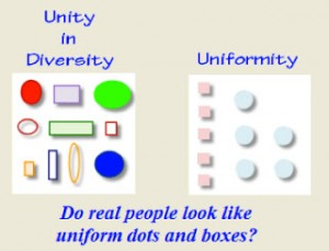 AA Uniformity vs Unity with Diversity