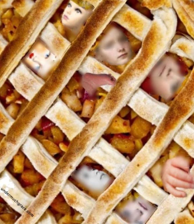 Anyone want a slice of apple daughter pie? Thanks Cindy Kunsman for making this graphic!