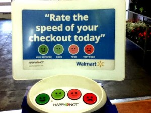 Walmart rate speed sign
