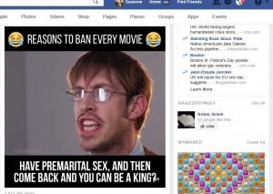 Screencap from Facebook