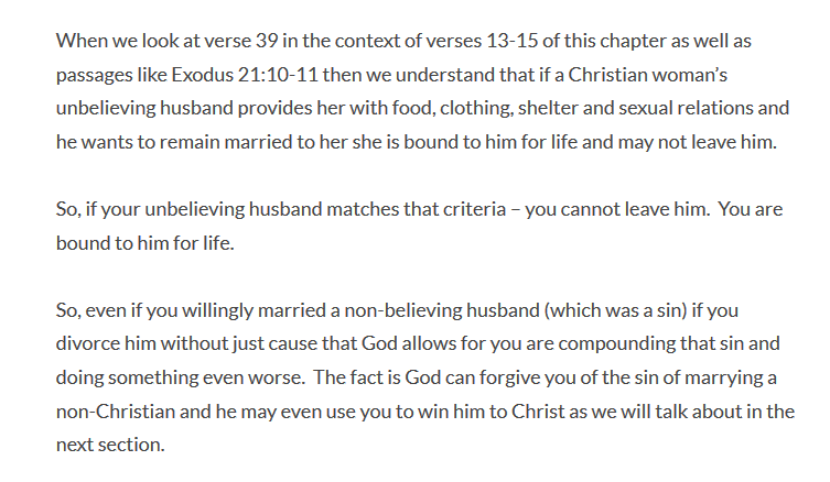 Christian Women Cannot Divorce Heathen Husbands? | Suzanne
