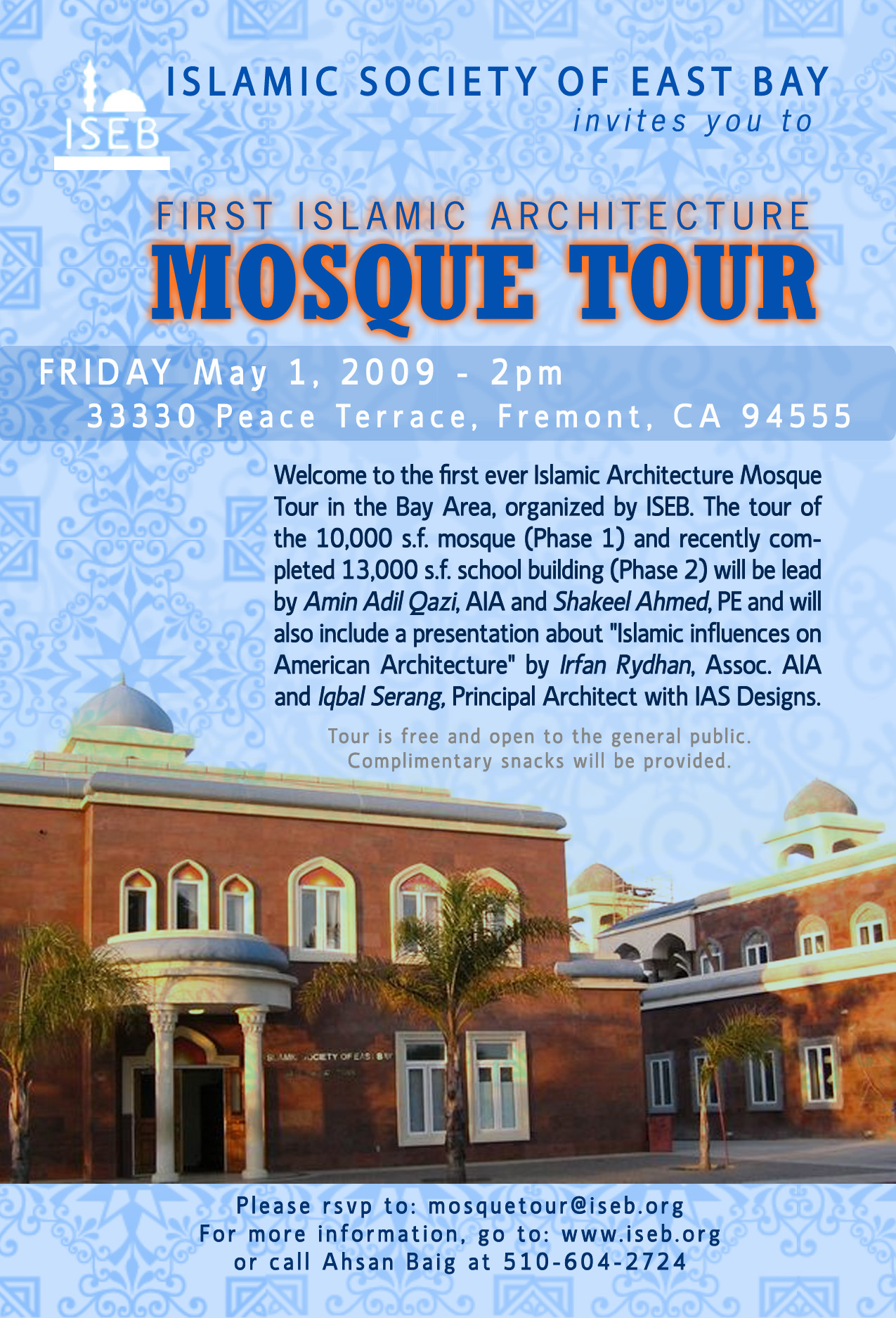 ISEB Mosque Tour Flyer