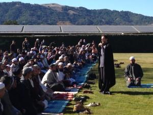 Sh Hamza speaking at the Rain Prayer in Pleasanton, CA
