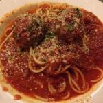Spaghetti & Meatballs from Layla's Bistro in San Jose, CA
