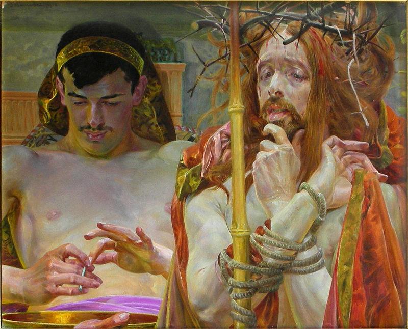 800px-Lwowska_Galeria_Sztuki_-_Jacek_Malczewski_-_Christ_in_front_of_Pilate
