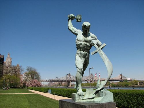Swords into Ploughs statue outside the United Nations