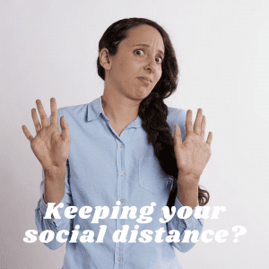 Social distancing is a great way to avoid spreading or contracting the COVID-19 virus, but we can still have spiritual direction sessions. We live in the digital age, so we can meet by phone or online for now. It may feel odd to avoid hugs and handshakes — and even church — but it's better than being sick!