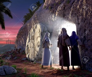7038024-Mary-Magdalene-Mary-Salom-walking-up-to-the-bright-empty-tomb-of-Jesus-Christ-early-Sunday-morning-S-Stock-Photo