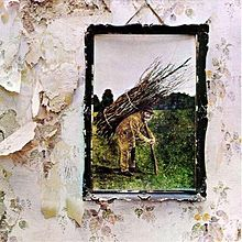 The cover of Led Zeppelin's fourth album.  Notice the lack of band name.  Awesome.