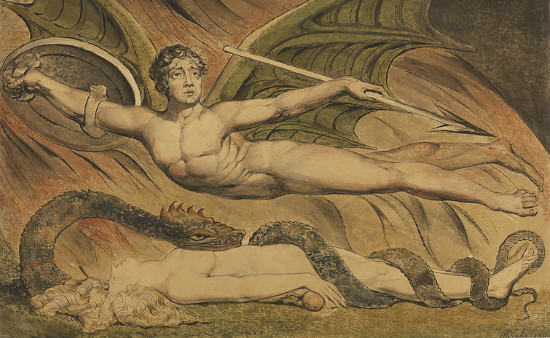 """Satan Exulting over Eve"" by William Blake.  From WikiMedia."