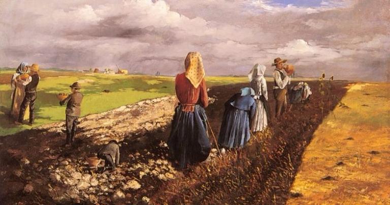 """The Potato Harvest"" by János Pentelei Molnár.  From WikiMedia."