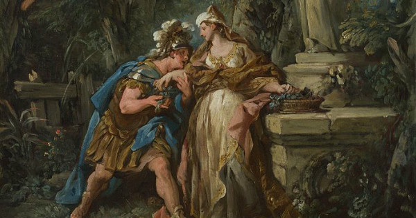 """Jason Swearing Affection for Medea (or in this case Ari)"" by Jean-François de Troy.  From WikiMedia."