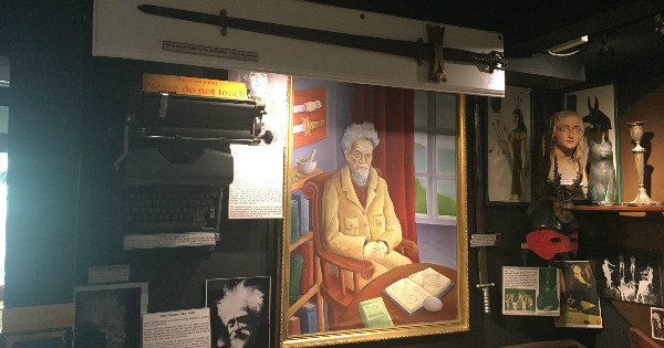 The Gerald Gardner exhibit at the Museum of Magic & Witchcraft in Boscastle England.