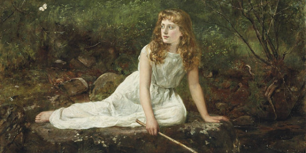 The Butterfly by John Collier from Wikipedia Commons