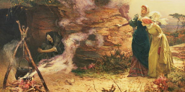 """A Visit to the Witch"" by Edward Frederick Brewtnall, courtesy of Wikimedia Commons."