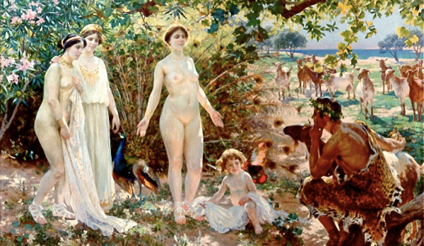 """""""The Judgement of Paris"""" by Enrique Simonet, from WikiMedia Commons."""