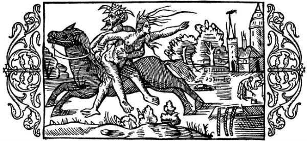 """On the Punishment of Witches"" 1555.  From WikiMedia Commons."