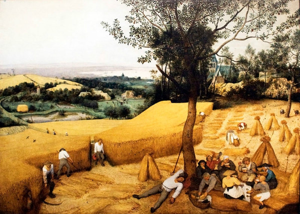 """The Corn Harvest"" by Pieter Bruegel the Elder, from WikiMedia."