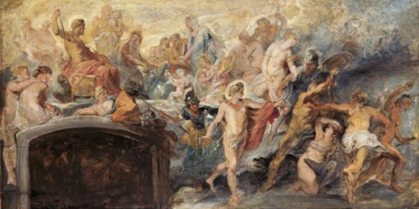 The Council of Gods (Sketch for the Medici Cycle) No.14, Peter Paul Rubens.  From WikiMedia.
