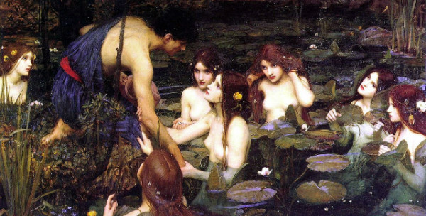 """Hylas and the Nymphs"" by John William Waterhouse.  From WikiMedia."