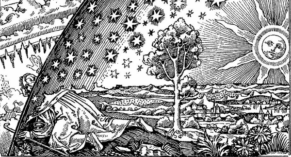 The Flammarion engraving (1888) , From WikiMedia.