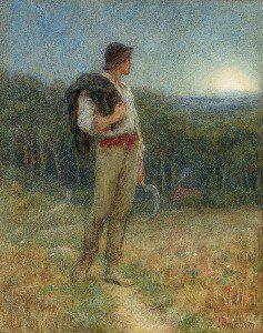 """Helen Allingham -""""Harvest Moon""""  From WikiMedia."""