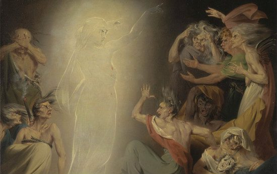 The_Ghost of Clytemnestra Awakening the Furies by John Downman from WikiMedia.