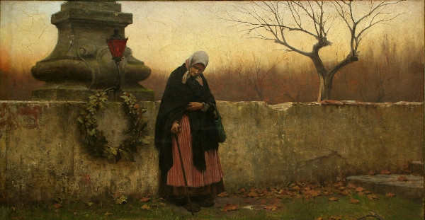 """All Souls' Day"" by Jakub_Schikaneder.  From WikiMedia."