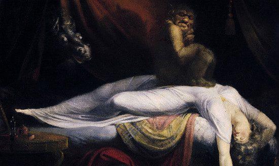 The Nightmare by John Henry Fuseli, from Wikimedia.