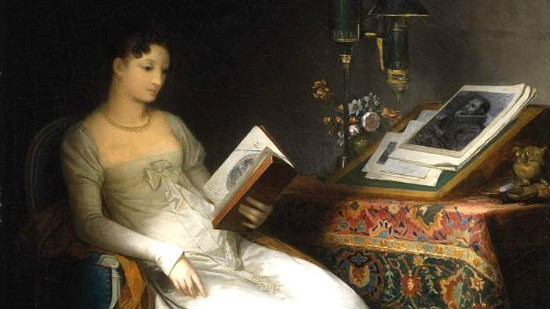 """""""Lady Reading in an Interior"""" by Marguerite_Gérard.  From WikiMedia."""