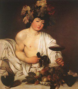 """Bacchus"" by Caravaggio.  From WikiMedia"