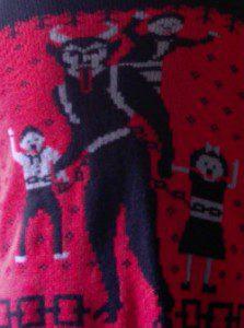 My Krampus Sweater.