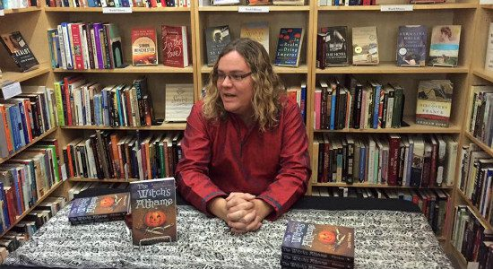 """Me at my first book signing for """"The Witch's Athame."""""""