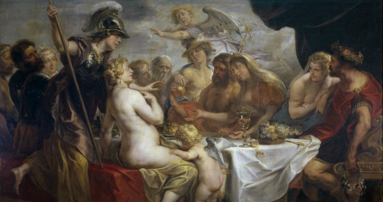 """The Golden Apple of Discord""  by Jacob Jordaens.  From WikiMedia."
