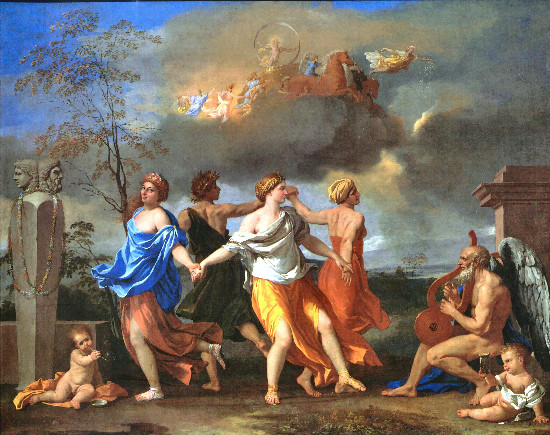 """The Dance to the Music of Time"" by Nicolas Poussin.  From WikiMedia"