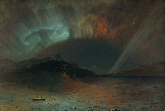 """Aurora Borealis"" by Fredric Edwin Church.  From WikiMedia."