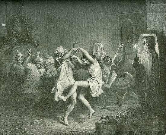 """Tam O'Shanter and the Witches""  by John Faed.  From WikiMedia."