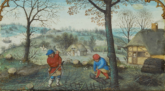 """Gathering Twigs"" by Simon Bening.  From WikiMedia."