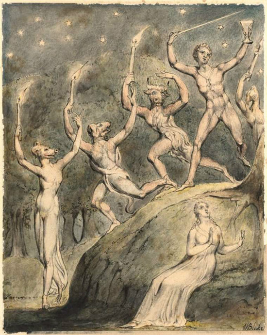 Picture by William Blake, From WikiMedia.
