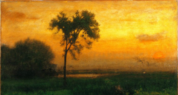 """Sunrise"" by George Inness, from WikiMedia and the Brooklyn Museum."