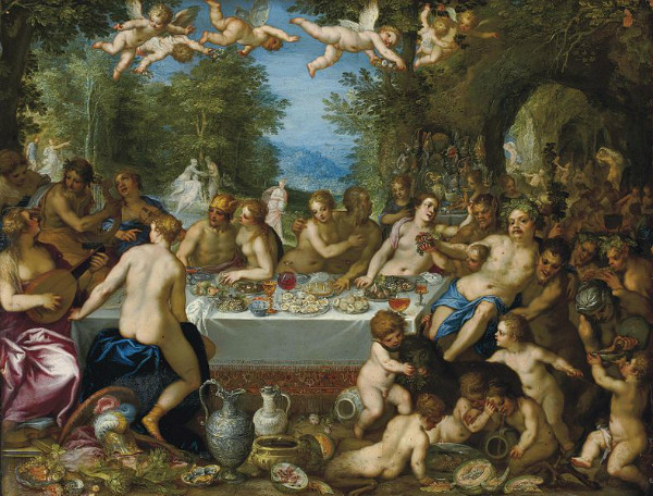 """The Marriage of Bacchus und Ariadne"" by  Hans Rottenhammer and Jan Brueghel the Elder.  From WikiMedia."
