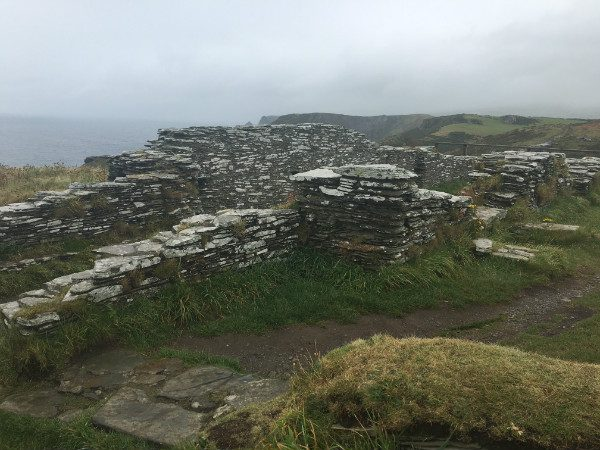 Castle ruins at Tintagel.