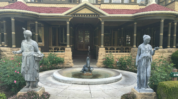 Fountain at the Winchester Mystery House
