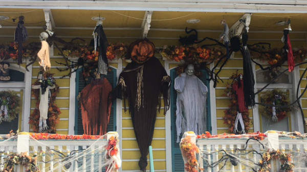 This porch in  New Orleans is much better decorated than mine.
