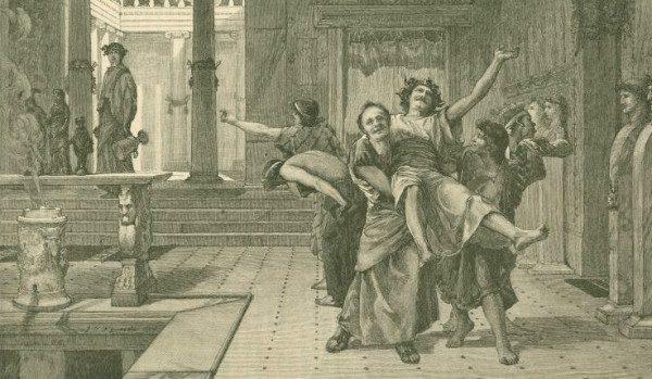 """The Roman Saturnalia"" by John Reinhard Weguelin.  Like Christmas, but with no Jesus.  From WikiMedia."