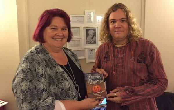 Geraldine Beskin & me at Atlantis.  I spoke in the Gerald Gardner Room!!!